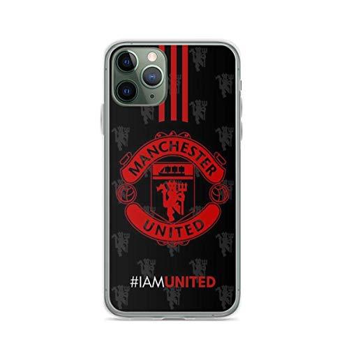 LADIGASU iPhone 11 12 PRO Max XR 6/7/8 SE 2020 Custodia,United Manchester Soft TPU AntiGraffio Cover