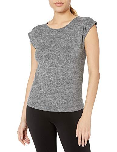 ASICS Damen ASX Lux Short Sleeve Top, Damen, Performance Black, X-Small