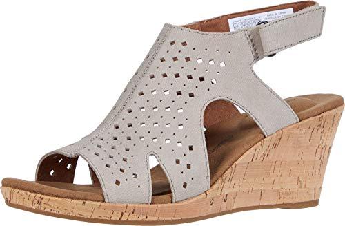 Rockport Women's Briah Hood Sling Heeled sandals, Taupe, 8