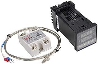 Gavita-Star - Alarm REX-C100 110V to 240V 0 to 900 Degree Digital PID Temperature Controller Kits With K Type Probe Sensor