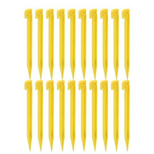 WNSC Estacas de plástico para Tiendas de campaña, estacas para Acampar, 20 Piezas para jardín de Arena