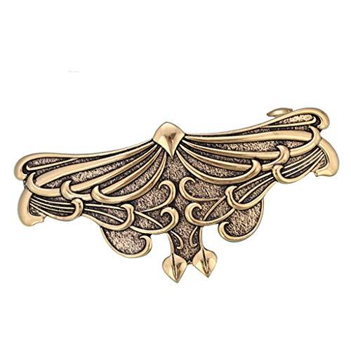 Vintage-Stil Haarspange Haarklammer Haarclip Haarklemme Metall Spange Hair Barrette Pin - Gold