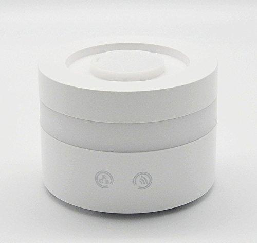 Deerbird® Elegant wit 100 ml Sussurro rustige aromatherapie diffuser etherische olie ultrasone luchtbevochtiger met 7 kleuren instelbare LED Mist automatische uitschakeling