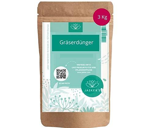 Jasker´s Bio Dünger für Gräser | 3 Kg | organischer langzeit Dünger für Pampasgras und Ziergäser | (Gräserdünger, 3.0 Kg)