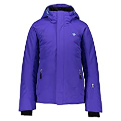 Removable hood, Full front zipper, YYK zippers, Fuzzy-fleece lined collar, Stretch inner cuffs, shaped outer cuffs. Interior windguard, Snap-Away water-resistant powderskirt, Front hand pocketsm, Interior electronics pocket. Detachable, scratch-free ...