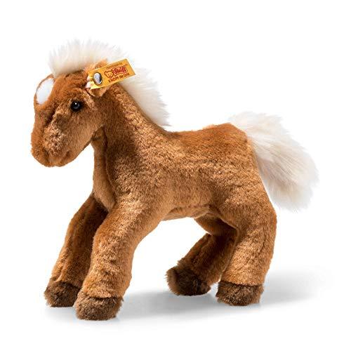 Steiff Sammy Pferd - 21 cm - Kuscheltier für Kinder - weich & kuschelig - waschbar - braun (674761)