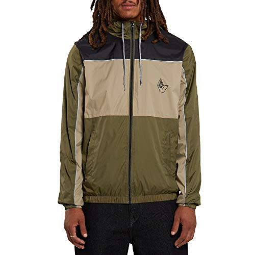 Volcom Men's Ermont Hooded Windbreaker Jacket