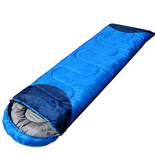 Sac de Couchage de Camping LIUSIYU, Sac de Couchage Pliable léger pour enveloppes de Saison 3-4, Coton Creux 250G / M2, imperméable Chaud, idéal pour Le Camping, la randonnée,blue2