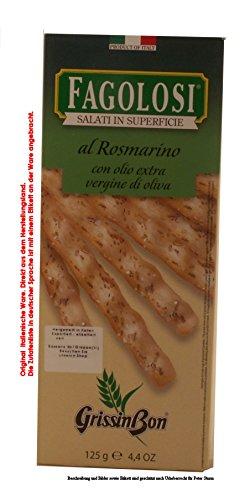 GrissinBon Fagolosi Salati in superficie gusto AL Rosmarino 10 x 125g = 1250g Gebäckstangen mit Rosmarin