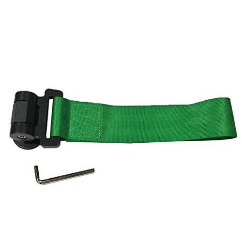IPOTCH Varilla de Correa de Remolque de Estilo de Carrera de Pista de Nailon Verde Universal para Parachoques Delantero