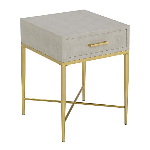 Convenience Concepts Ashley End Table, Beige/Gold