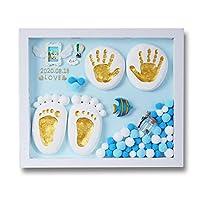 PENIOR ベビークレイは赤ちゃんの足跡を保存できます 出産記念品 赤ちゃんの手作りの創造的な贈り物 ベビーシャワーセット 粘土は長期間保存できます 手の形 赤ちゃんの手形の足跡 ベビーインクパッドライトフォトフレーム ベビーインクパッドライトフォトフレーム ベビーフォトフレーム