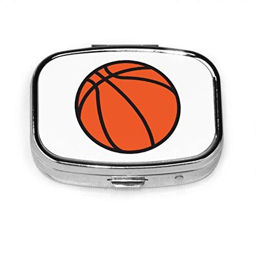 Cool Sports Orange Baloncesto Pill Box Mujer Pill Box Tablet Holder Cartera Organizador Funda para bolsillo o monedero