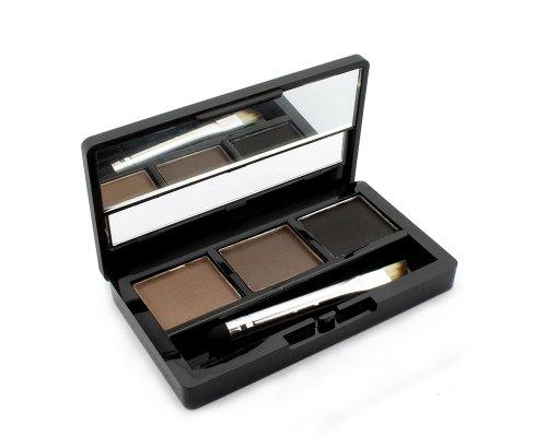 BONAMART Augenbrauenpuder Augenbraue Powder Palette, 3 Farben Eye Braue mit Pinsel und Spiegel...