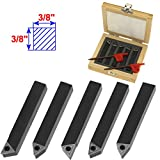 Anytime Tools 5 Piece 3/8' Mini Lathe Indexable Carbide Insert Tool Bit Set