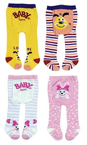 Zapf Creation 831748 BABY born Strumpfhose 2x 43 cm - 2er Pack Puppenstrumpfhosen - Farbe nach Vorrat