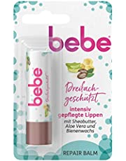 Bebe 3-in-1 lippenbalsem – verzorgende lippenbalsem beschermt en herstelt droge lippen – 4,9 g