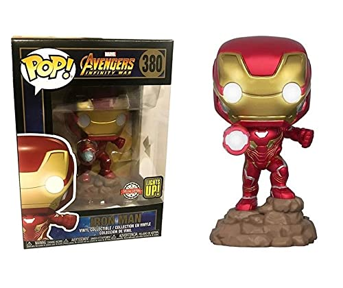 USA OFFICIAL Los Vengadores Infinity War Funko Pop 380 Iron Man Lights Up Special Edition 9 cm