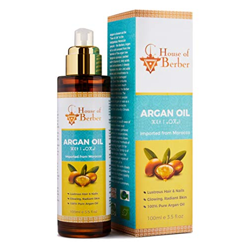 Organic Argan Oil - 100% Pure, Extra Virgin & Cold-Pressed - For Hair, Face...