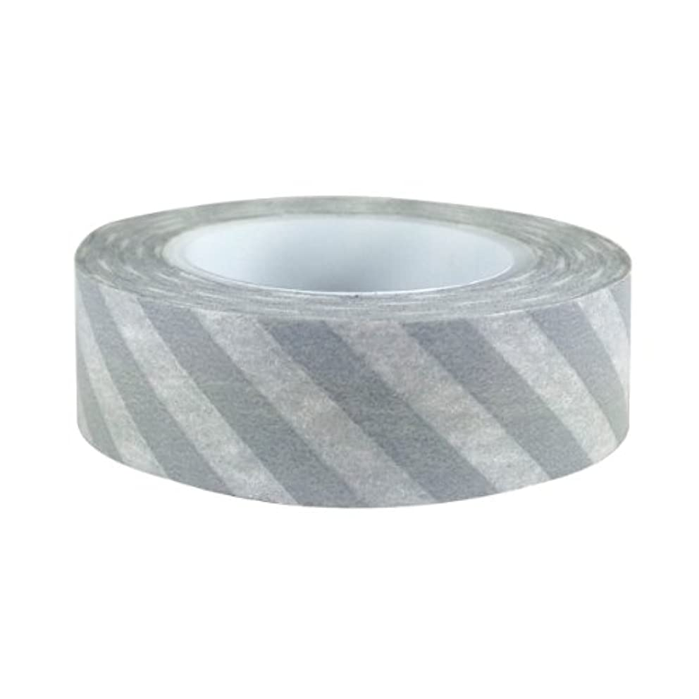 AllyDrew Striped Japanese Washi Masking Tape - Diagonal Grey Stripe