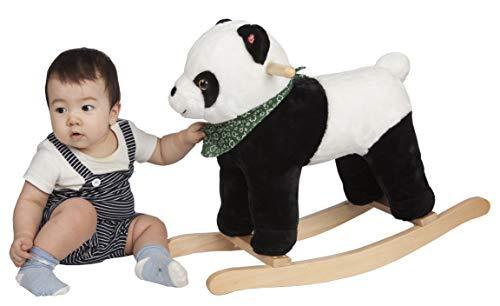 ROCK MY BABY Wooden Rocking Horse Panda, Plush Stuffed Animal Rocker, Wooden Rocking Toy for Toddlers, Baby Rocker, Animal Ride on, for Boy and Girl (Rocking Panda for 18 Months up)