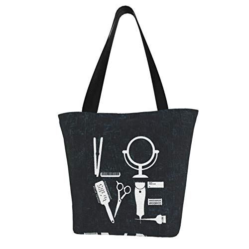 antcreptson Hairdresser Hairstylist Love for Her Hair Stylist Bib.Jpg Canvas Tote Bag for Women Travel Work Shopping Grocery Top Handle Purses Large Totes Reusable Handbags Cotton