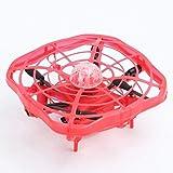 Qinmo Capteur Infrarouge Jouet lumières LED Lévitation Drones Volant Boule Drone Mini Induction Avions UFO Volant Boule Jouet Automatique par gravité Sens ( Color : Red )