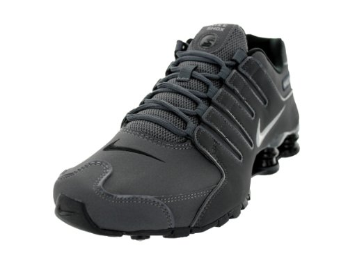 Nike Mens Shox NZ Dark Grey Leather Trainers 40.5 EU