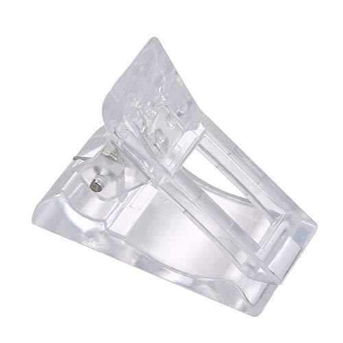 OKMINIOK Set von 7 transparenten Polygel-Nagelspitzen, Clips, Finger-Nagelverlängerung, UV-LED, Kunststoff-Klemmen, Maniküre-Nagelkunst-Werkzeug-Set für Polygel