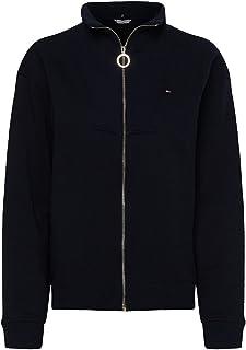 Tommy Hilfiger Damen Relaxed Zip-Through Sweatshirt Strickjacke
