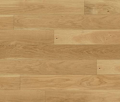 HORI® Klick Parkett 300 Dielenboden Parkettboden Eiche Various gebürstet Landhausdiele 1-Stab mit Fase Natur-geölt I Eiche I 7 Dielen im Paket = 0,99 m²