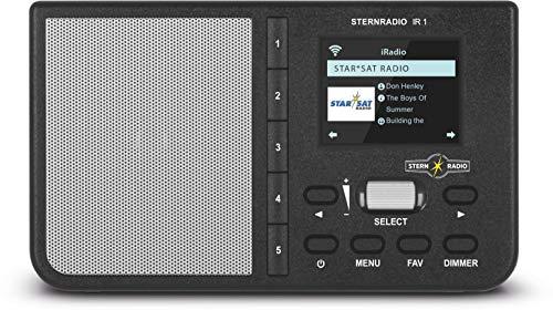 TechniSat STERNRADIO IR 1 - kompaktes Internetradio (WLAN, Farbdisplay, Weck- und Sleeptimer, AUX, Snooze Funktion, Direktwahltasten, App-Steuerung) schwarz