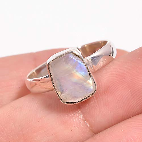 Gift Ring 6.5 US 925 Sterling Silver Handmade Ring,Statement Ring,Birthstone Ring,Fashion Ring,Woman Ring SunStone Sterling Silver Ring