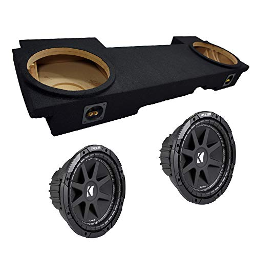 "Compatible with Chevy Avalanche 02-13 Dual 12"" Kicker C12 Subwoofer Under Seat Sub Box Enclosure 600 Watts Peak"