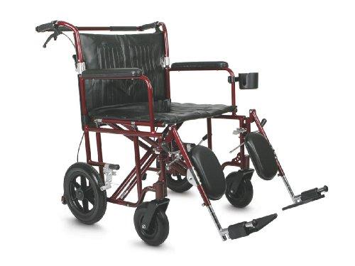 Medline Heavy Duty Bariatric Transport Chair,...