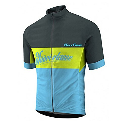 Uglyfrog HDX0107 2019 New Herren schließen Hülsen Zyklus Jersey Kurzarm Fahrradtrikot Fahrrad Hemd Fahrrad Top Outdoor Sports Radfahren Männer Trikot