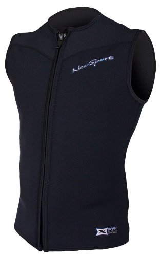 NeoSport Men's 2.5-mm XSPAN Vest (Black, Large) - Water Sports, Diving & Snorkeling