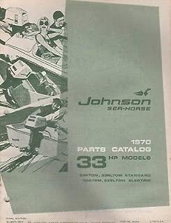 1970 JOHNSON SEA-HORSE OUTBOARD 33 HP PARTS MANUAL P/N 384398 (254)