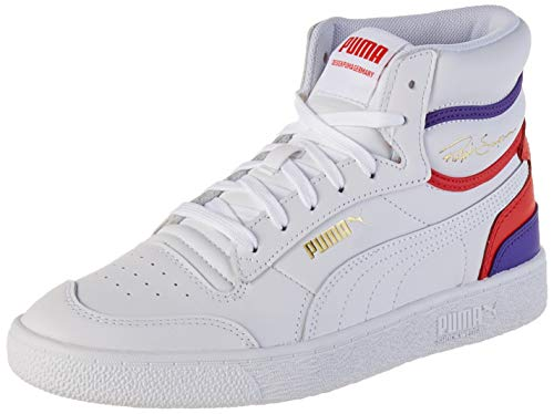 Puma Ralph Sampson Mid, Sneakers Unisex-Adulto, Bianco White/High Risk Red/Purple CORALLITES, 40 EU