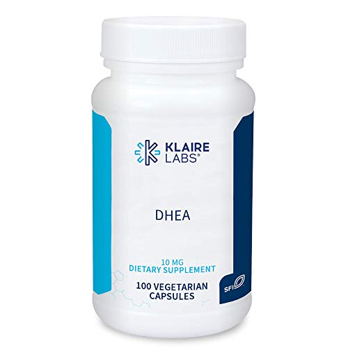Klaire Labs DHEA 10mg - Dehydroepiandrosterone Derived from Wild Yam - Micronized for Superior Absorption - Soy-Free, Hypoallergenic Supplement for Men & Women (100 Capsules)