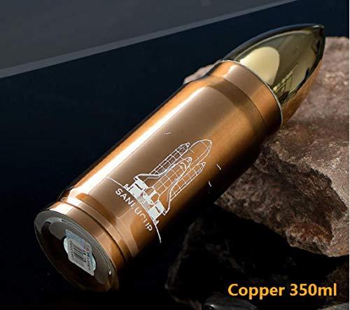 LinZX 350 ml 500 ml Bala Termo Aislamiento por vacío Frascos ejército para el Agua Que Tiene café Botella Rocket Mantener Caliente fría Bebida de café Militar Copa,Orange