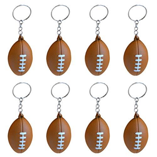 Toyvian 15 Stücke Rugby Schlüsselanhänger American Football Fußball Schlüsselbund Sport Taschenanhänger Schlüsselring Anhänger für Auto Kinder Damen Herren Geschenk