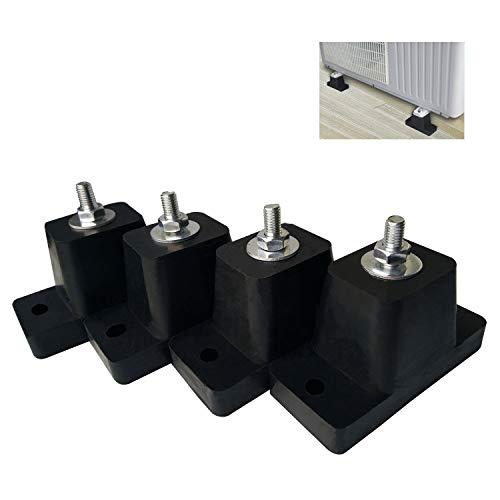 JIANZHENKEJI - Soporte de goma para aire acondicionado, uso para unidades al aire libre, mini split, HVAC y condensadores de aire acondicionado central | Soporte amortiguador de...