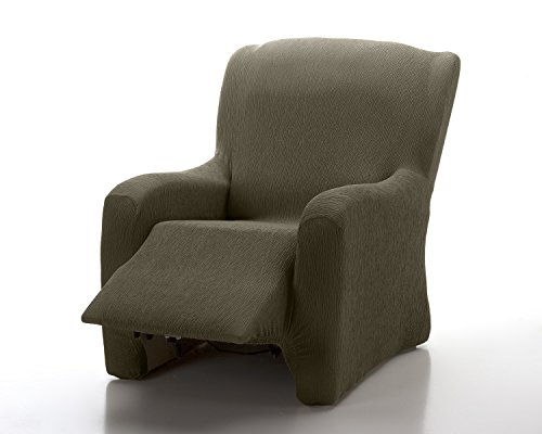 Textil-home Stretchhusse für Relaxsessel Komplett Marian, Elastisch Bezug für Fernsehsessel Liege - 1 Sitzer - 70 a 100Cm. Farbe Braun