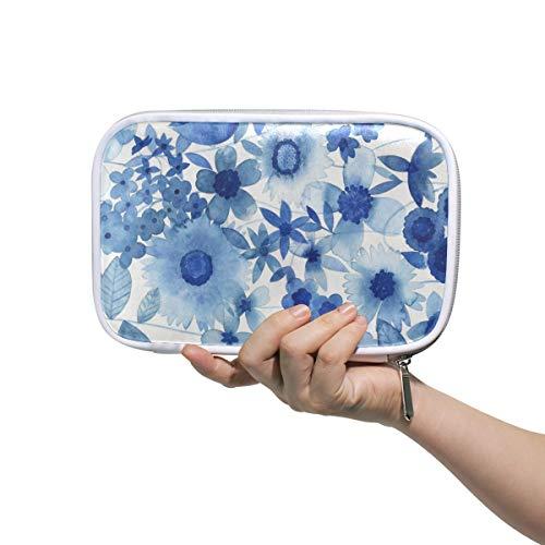FANTAZIO Federmäppchen Delft Blau Blumenmuster Große Kapazität Stiftetasche Make-up Tasche Durable Studenten Schreibwaren Perfekt Geschenk für Studenten