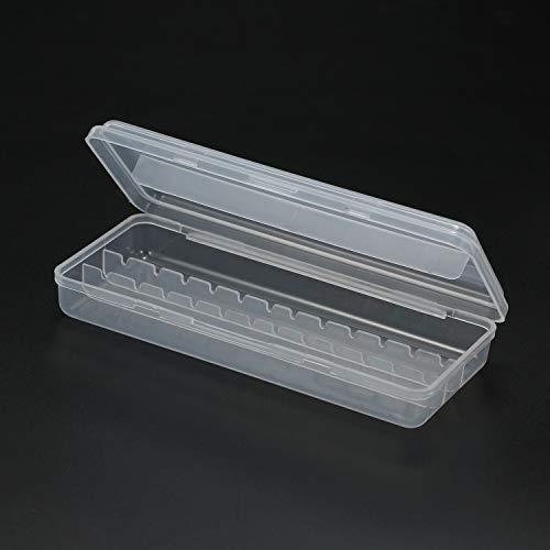 Anself 12 Holes Nail Drill Bits Holder Nail Drill Bits Storage Box Nail Drill Bits Container Stand Display Case Manicure Tool