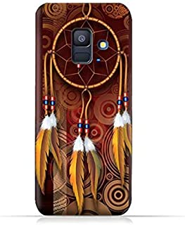 AMC Design Samsung Galaxy A6 2018 TPU Silicone Protective Case with American Feathers Design