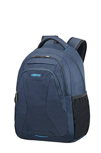 American Tourister At Work Laptop Backpack Zaino S (13.3'-14'), Blu (Midnight Navy)