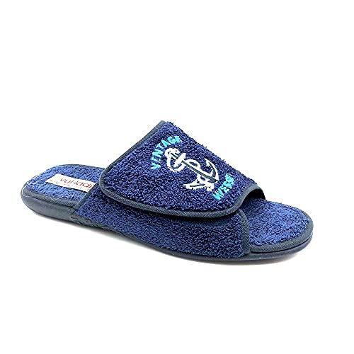 Chinelas Velcro Ancla Hombre 3675 Color: Azul Talla: 42
