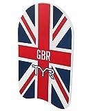 TYR tavoletta da Nuoto con Bandiera Inglese(British Swimming), Unisex-Adult, Bianco, Unica